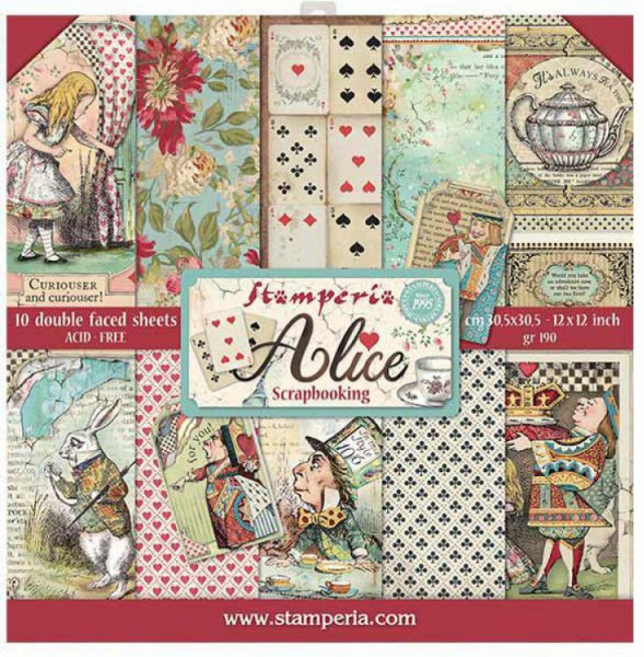 Stamperia Paper Pack Alice 12x12