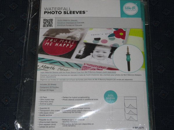 We R memory keepers waterfall photos sleeves 2 x2 inch (20 Stück)