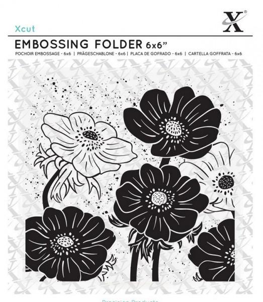 XCut Embossingfolder 6x6 Full Bloom Helleborus