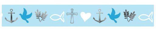 Ursus Masking Tape Religion blau silber 15mmx10m