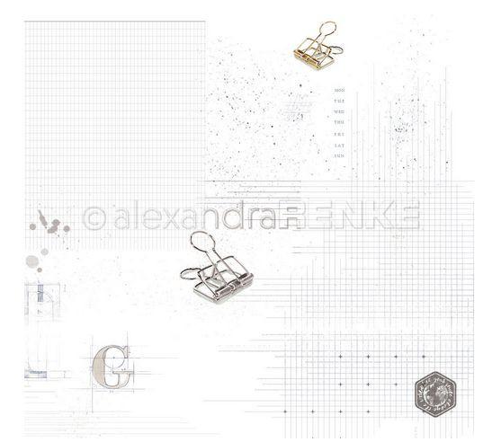 alexandraRENKE Designpapier Klammern mit Muster