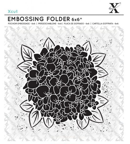 XCut Embossingfolder 6x6 Full Bloom Hydrangea