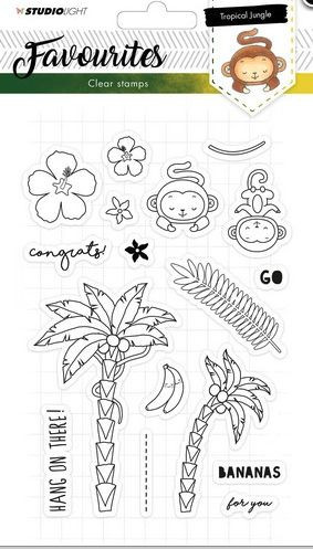 StudioLight Favourites Clear Stamps Tropical Jungle