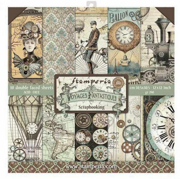 Stamperia Paper Pack 12x12 Voyages Fantastiques