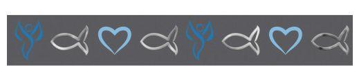 Ursus Masking Tape Religion grau-blau silber 15mmx10m
