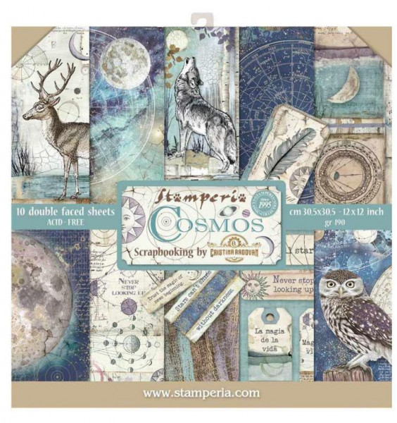 Stamperia Paper Pack Cosmos 12x12 (9,66€/m²)