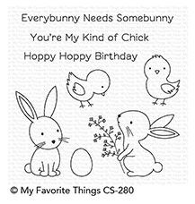 MFT Clear stamps Hoppy Friends