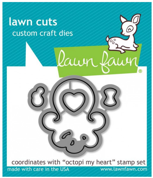 Lawn fawn Stanzschablone / Die Octopi my heart LF1296