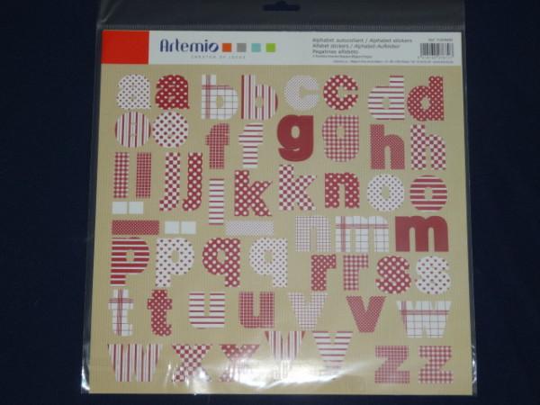 Artemio Alphabet Sticker 11004400 Campagne
