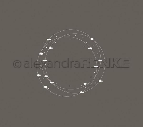 alexandraRENKE Motivstempel Fischkreise 64 mm x 63 mm