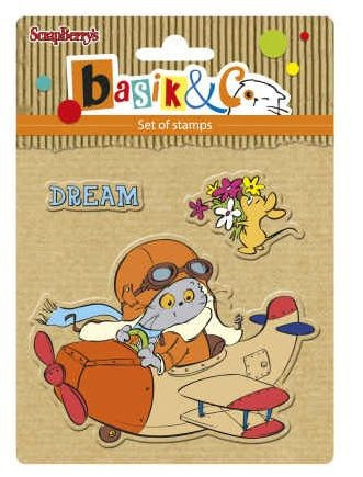 ScrapBerry's Clear Stamps Let's Fly SCB 4907038