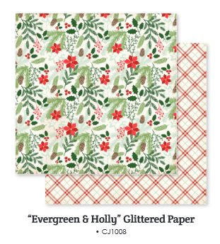 My mind´s eye Comfort and Joy: Evergreen & Holly CJ1008