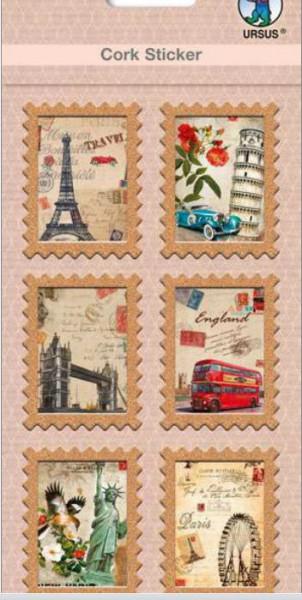 Ursus Kork Sticker Briefmarke City tour