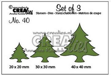 CREAlies Stanzschablonen Tannenbäume CLSet40