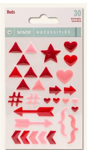 My Mind's eye enamel shapes 30 Stück red #NC 1032