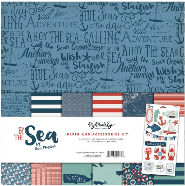 My Mind's eye By the Sea Paper and Accessories Kit #BTS114