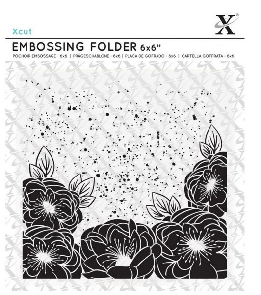 XCut Embossingfolder 6x6 Full Bloom Roses
